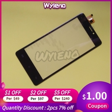 Wyieno 5Pcs/Lot For BQ 5005L BQ5005L Intense Touchscreen Sensor Touch Panel Digitizer Screen 5.0inch