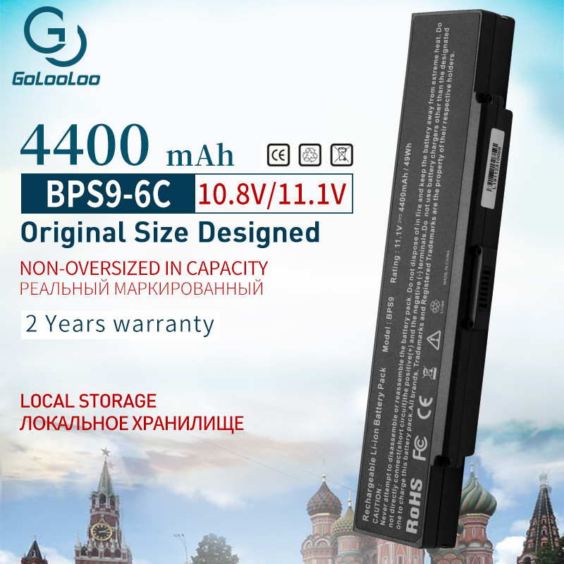 Golooloo Laptop Battery For Sony VGP-BPS10 VGP-BPS9 VGP-BPL9 VGP-BPL9C VGP-BPS9A/B VGP-BPS9/B VGP-BPS9/S VGN-AR41E VGN-AR49G