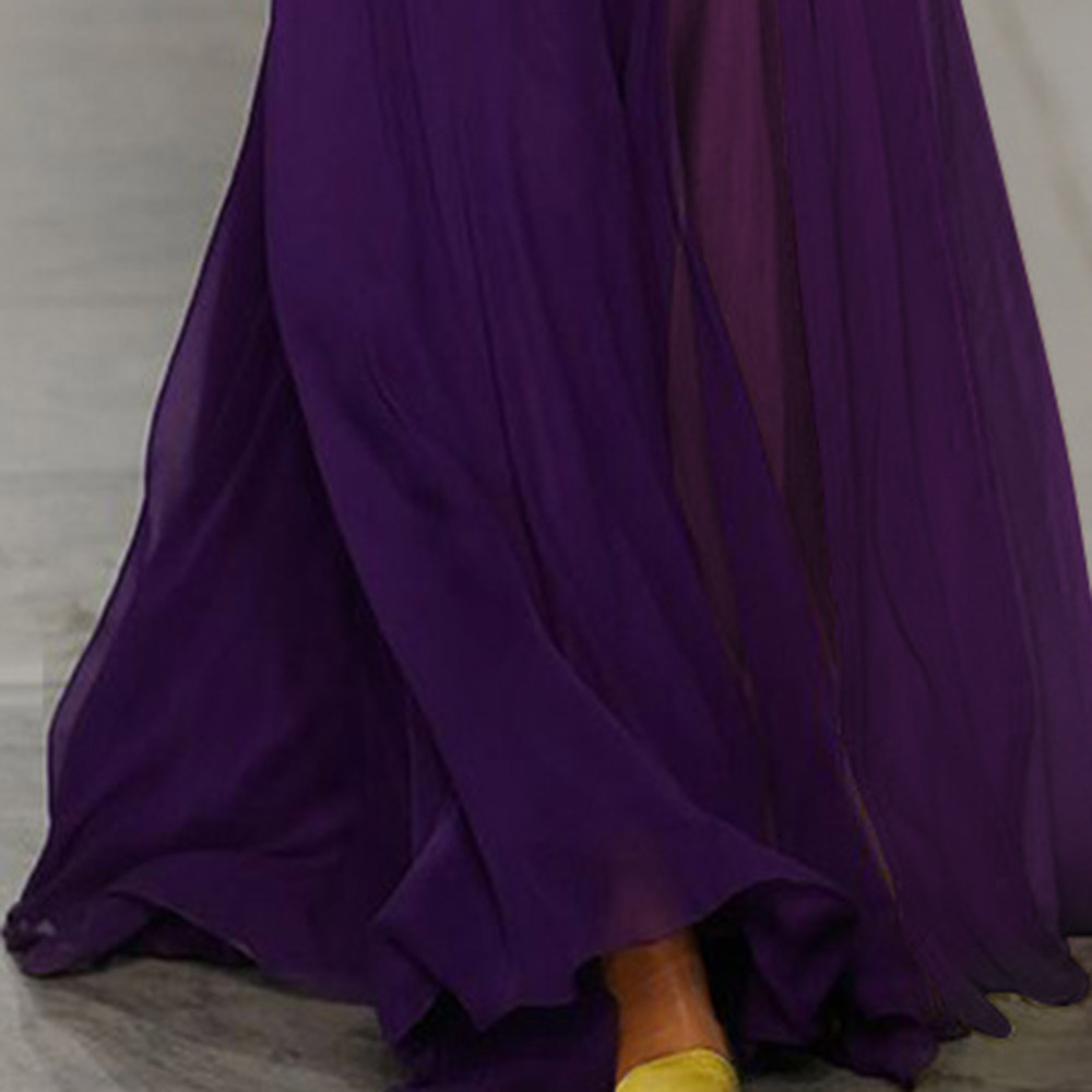 Purple Prom Dress Off The Shoulder Long Sleeves A Line Floor Length Elegant Women Evening Party Formal Gowns Prom Dresses
