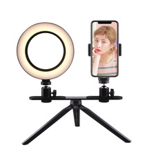 16cm/20cm Photography Ring Lamp Dimmable LED Selfie Ring Light Tripod Stand For Makeup Youtube Photo studio light Video Live led selfie ring light tripod 26cm photo studio photography photo fill ring lamp with tripod stand for youtube live video makeup