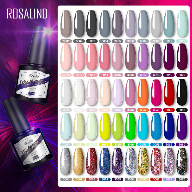 Rosalind Gel Nagellak Semi Permanente Uv Gel 8Ml Hybrid Vernissen Soak Off Nagels Art Alle Voor Manicure Top jas Gellak Polish