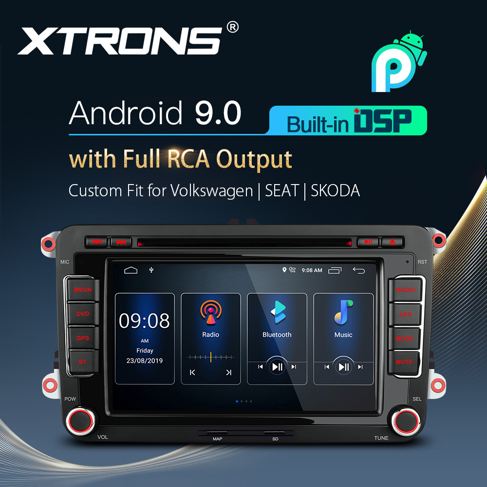 7'' Android 9.0 DSP Car GPS Multimedia DVD Stereo Radio Player for <font><b>VW</b></font> Polo <font><b>Touran</b></font> Golf MK5 MK6 Jetta Vl For SEAT For SKODA image