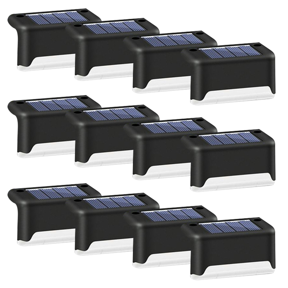 4 8 12 16PCS LED Solar Lamp Path Stair Outdoor Waterproof Wall Light Garden Landscape Step Stair Deck Lights Fence Solar Light