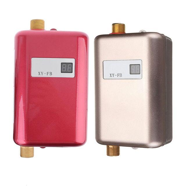 Mini Tankless MÀN HÌNH Kỹ Thuật Số LCD Máy Nước Nóng Tức Thì Nóng Vòi bếp Nóng Bình Giữ Nhiệt HOA KỲ Cắm Thông Minh Năng Lượng tiết kiệm Chống Thấm Nước