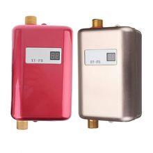 """מיני Tankless LCD דיגיטלי מים מיידי תנור חם ברז מטבח חימום טרמוסטט ארה""""ב תקע אינטליגנטי באנרגיה לחסוך עמיד למים"""