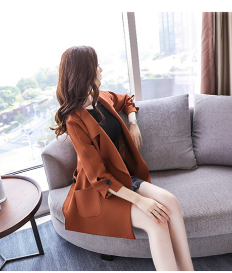 Autumn jacket women M-2XL plus size pink green beige coat 19 new long sleeve lapel fashion short paragraph jacket feminina LR484 34