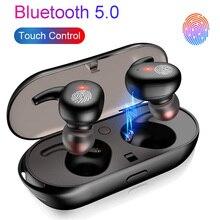 Bluetooth 5,0 наушники мини TWS беспроводная гарнитура с сенсорным управлением спортивные наушники стерео беспроводные наушники зарядная коробка для смартфона