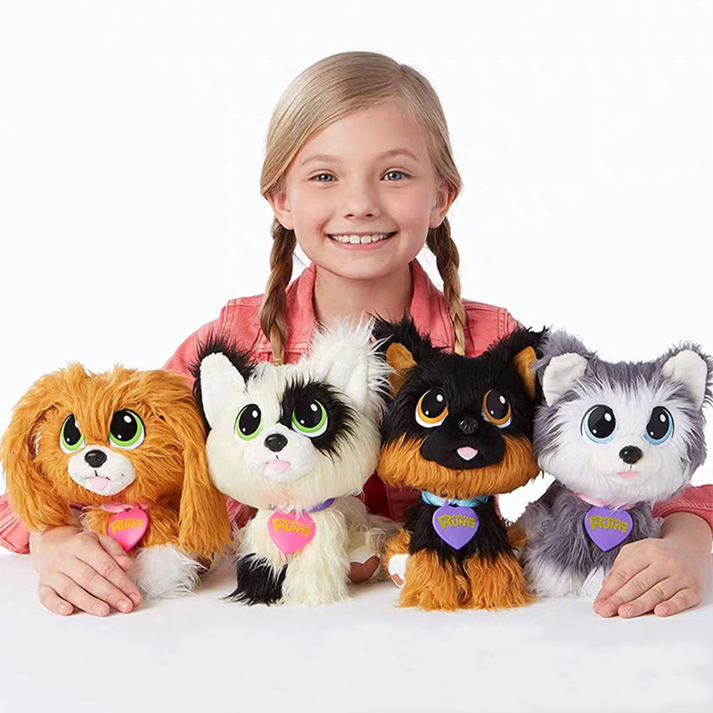 Rescue Scruff Runts Plush Doll Wash Pet Dog Animal Toys Kids Children Surprised New Year Gifts Bath Flea Stray Dog Accessories