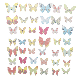 42pcs Mixed Butterfly Edible Glutinous Wafer Rice Paper Cake Cupcake Toppers For Cake Decoration Birtay Wedding Cake Tools
