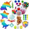 Fidget Sensory Toy Stress Anxiety Relief Autism Toys Set Push Kit Bubble Fidget Sensory Toys for Kids Adults Decompression Gift