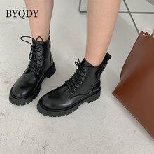 Byqdy/ботинки на платформе с круглым носком и пряжкой женские