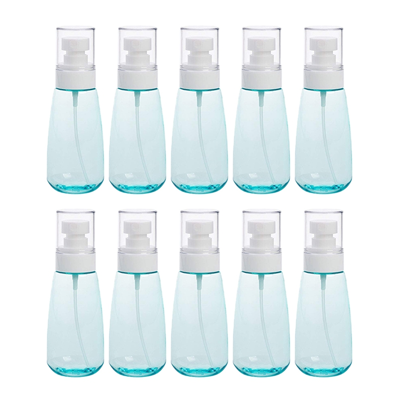 10 PCS Portable Refillable Plastic Fine Mist Perfume Spray Bottle Transparent Empty Spray Sprayer Bottle, 100Ml-0