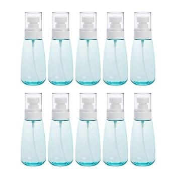 10 PCS Portable Refillable Plastic Fine Mist Perfume Spray Bottle Transparent Empty Spray Sprayer Bottle, 100Ml