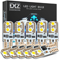 DXZ 10 шт. W5W T10 Светодиодные лампы 12 В 24 В Canbus 3030 4-SMD 6000K белый 194 168 Автомобильный Интерьер Карта купольные огни автомобильная парковочная сигнал...