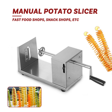 GZZT ручной резак для картофеля с Башней, спиральный резак для картофеля, слайсер с 2 лезвиями, машина для картофеля из нержавеющей стали, спиральный картофельный чип