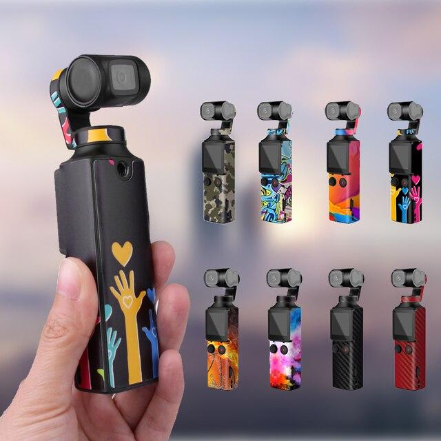 Sunnylife PVC מדבקות עבור FIMI כף כף יד Gimbal צבעוני הסוואה מדבקות סרט עור מדבקות עבור fimi פאלם אבזרים