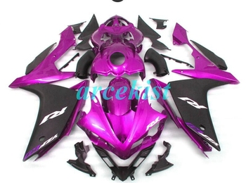 4Gifts New ABS Mold motorcycle Fairings Fit For Yamaha YZF-1000-R1 2007 2008 07 08 Fairing bodywork set custom purple black cool