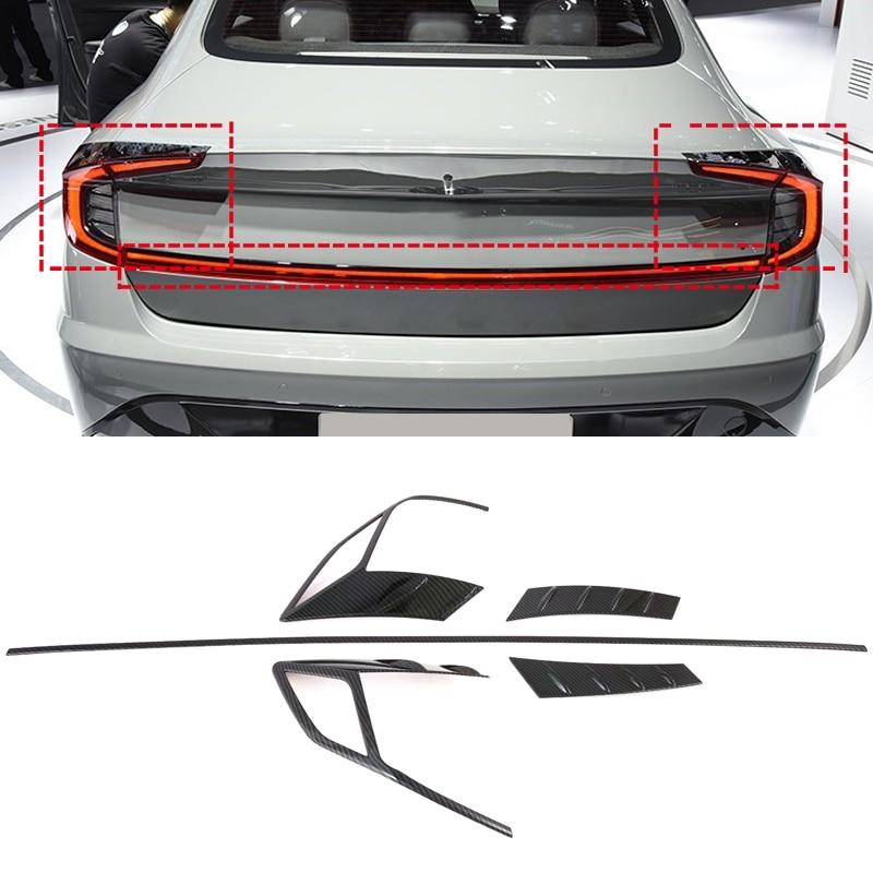 New Accessories! ABS Car Rear Light Lamp Cover & Rear Door Lid Trim 5pcs For Hyundai Sonata Sensuous DN8 2019 2020
