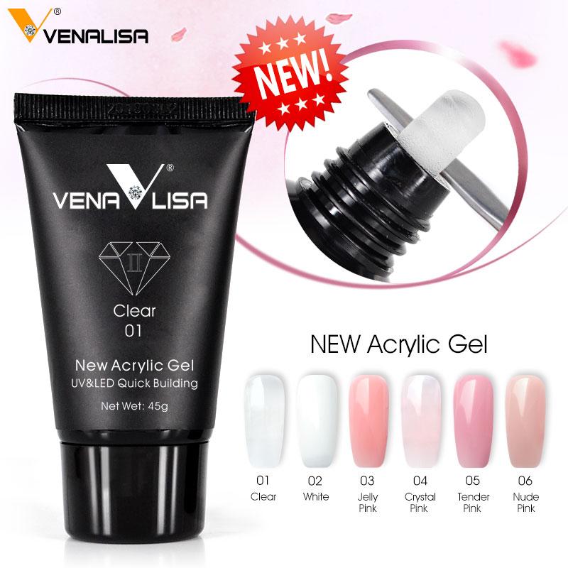 Venalisa Poly-Gel Gel Builder Nail-Extend Crystal Transparent Coumuflage 45/30g