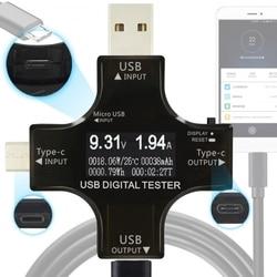 PHONEFIX wielu interfejs USB typu C Tester wyjście napięcie prądu multimetr detektor wielofunkcyjny USB napięcie ładowania Tester w Zestawy narzędzi ręcznych od Narzędzia na