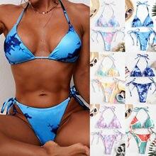 Sexy brésilien string Bikini Mujer maillots de bain femmes grande taille impression Tankini maillot de bain maillot de bain maillots de bain rembourrés
