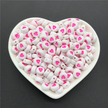 100pcs/lot 4x7mm Acrylic Spacer Beads Letter Beads Oval Alphabet Beads For Jewelry Making DIY Handmade Accessories 9