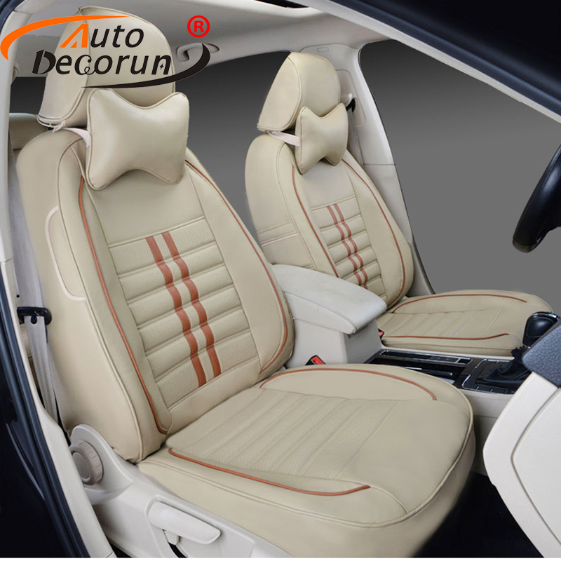 AutoDecorun Tailored cover seats for <font><b>Acura</b></font> <font><b>tl</b></font> <font><b>2009</b></font> seat covers accessories PU leather car seat supports cushion headrest covers image