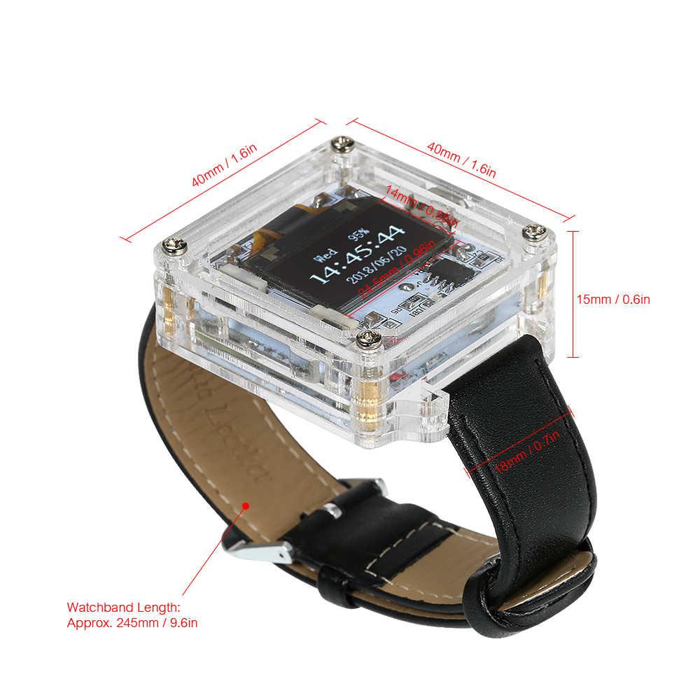 Diy kit relógio eletrônico transparente led relógio diy tubo digital relógio de pulso montar scm impressionante