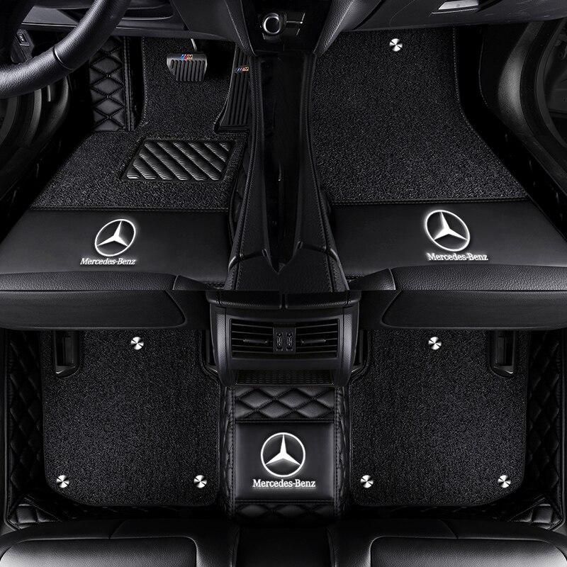 Car Floor Mat For Mercedes GLC 200 260 300 220d 250d 350e AMG Coupe Accessorie Floor Mat Carpets
