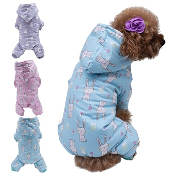 Cute Printed Pet Clothes Small Dog Jumpsuit Chihuahua Pajamas Pet Hoodie Coat for Dogs Cats Super Soft Warm Puppy Dog Costume sweet pet dog hoodie coat jumpsuit sweater fleece warm winter for cat small dogs sweatshirts pet clothes puppy chihuahua