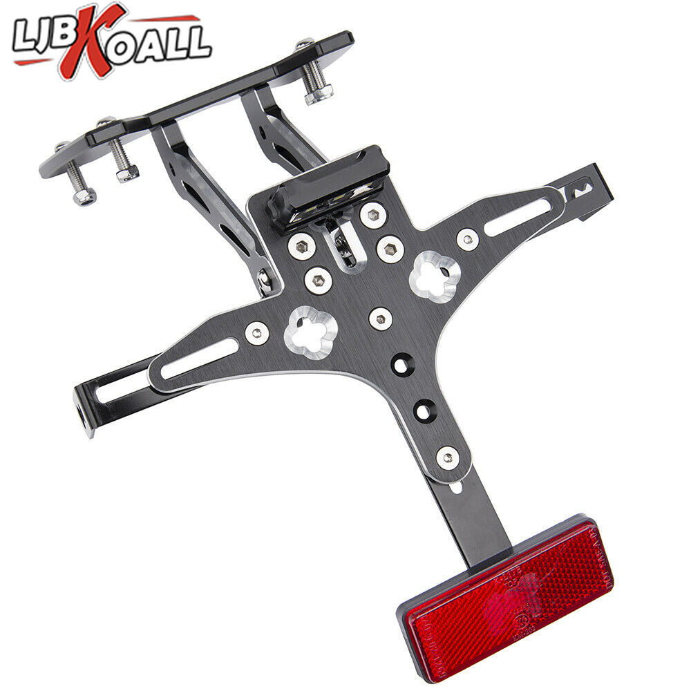 For Suzuki GSX-R <font><b>GSXR</b></font> <font><b>600</b></font> 750 K8 2008 2009 2010 Motorcycle Fender Eliminator Registration License Plate Holder Bracket LED <font><b>Light</b></font> image