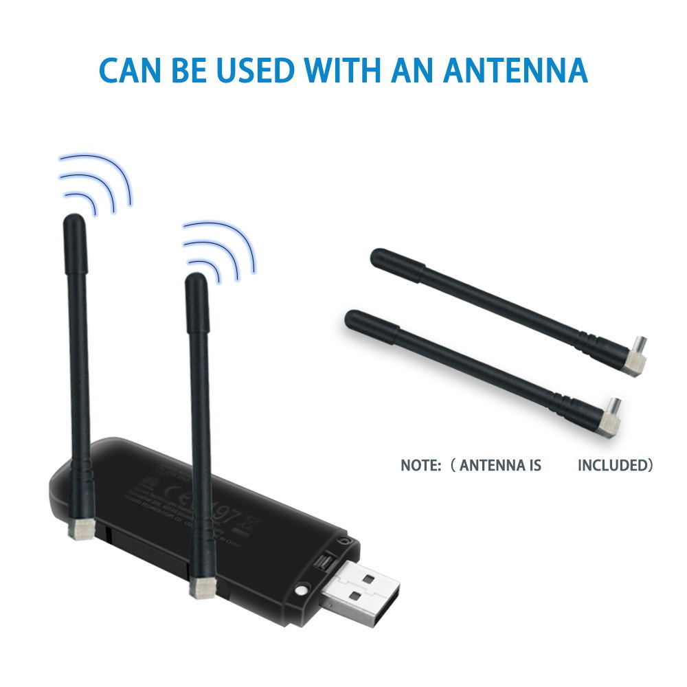 Huawei E3372 E3372s-153 h-153   plus a pair of antenna   4G LTE 150Mbps USB Modem LTE USB Dongle  E3372h-607 PK E8372