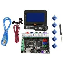 3D Printer Motherboard Kit Mks Gen L+Tmc2209x5 Driver+12864 Rgb V1.1 Lcd Display for Cnc Ramps Cheetah F6 Vs Mini12864 цена в Москве и Питере