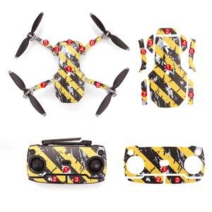Image 2 - Wasserdicht Dekorative Aufkleber Aufkleber Haut Wrap Abdeckung Kit für DJI Mavic Mini Drone Zubehör Teile