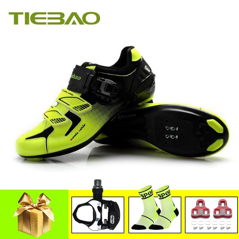 Tiebao sapatilha ciclismo men women cycling shoes road pedals SPD-SL zapatillas deportivas hombre outdoor superstar sneakers