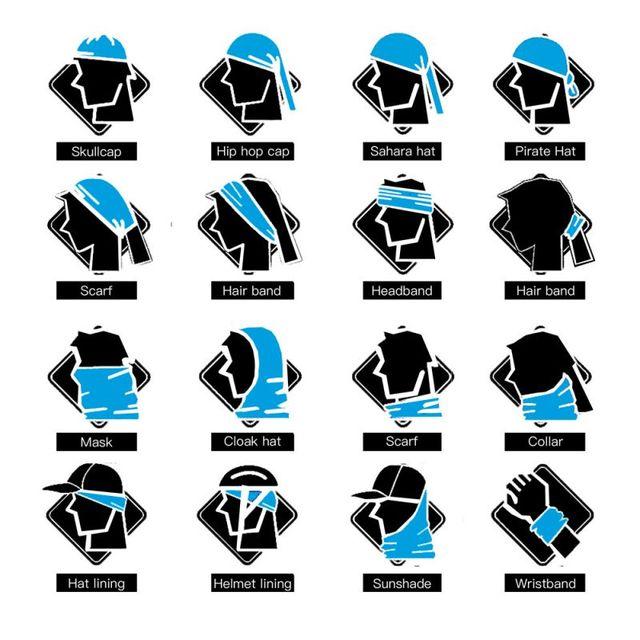 Unisex Multi Use Black Wolf head Scarf Dustproof Outdoor Sport Half Face Shield Bike Motor Neck Headwear Neck Balaclava Bandana 5