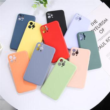 Lovebay couleur bonbon coque de téléphone pour iPhone 11 11 Pro Max Silicone liquide solide uni pour iPhone 11 coque souple coque arrière en TPU 2