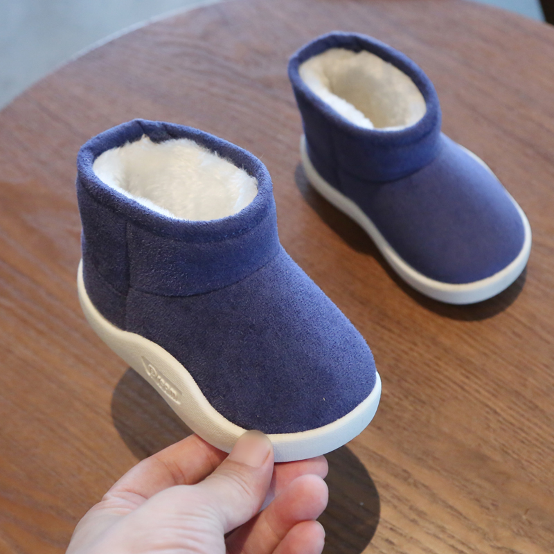Baby Girls Boys Boots 2019 Winter Infant Toddler Snow Boots Warm Plush Outdoor Boots Soft Bottom Non-slip Kids Cotton Shoes