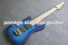 Suneye Blue Left Handed Electric Guitar Tom Anderson Style 7 String Guitar Electric Maple Fretboard Custom Guitar Kit цена