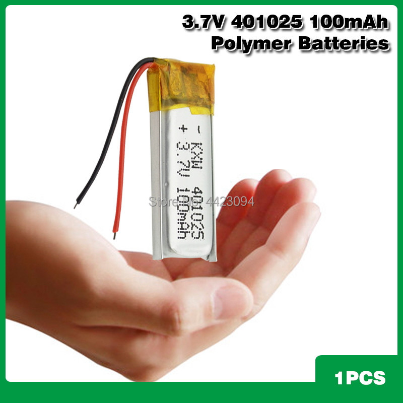 3.7V 100mAh 401225 <font><b>401025</b></font> 401525 Lithium Polymer LiPo Rechargeable Battery li ion For Mp3 PAD image