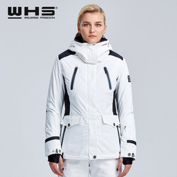 WHS новая пара зимняя Лыжная куртка уличная Снежная хлопковая спортивная женская теплая уличная куртка водонепроницаемая и ветрозащитная б...