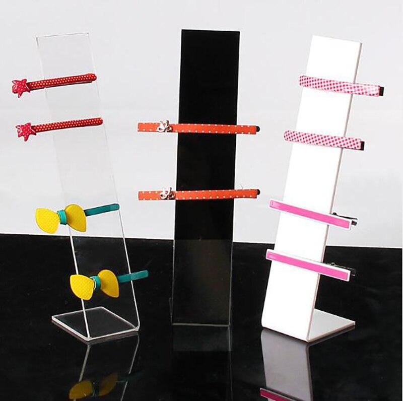 Acrylic Headwear Showing Rack Jewelry Display Stand L Shape Headwear Hair Accessories Display Holder 4x5x19cm