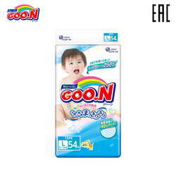 GOON diapers for Boys and Girls 9-14 kg (54 PCs) L