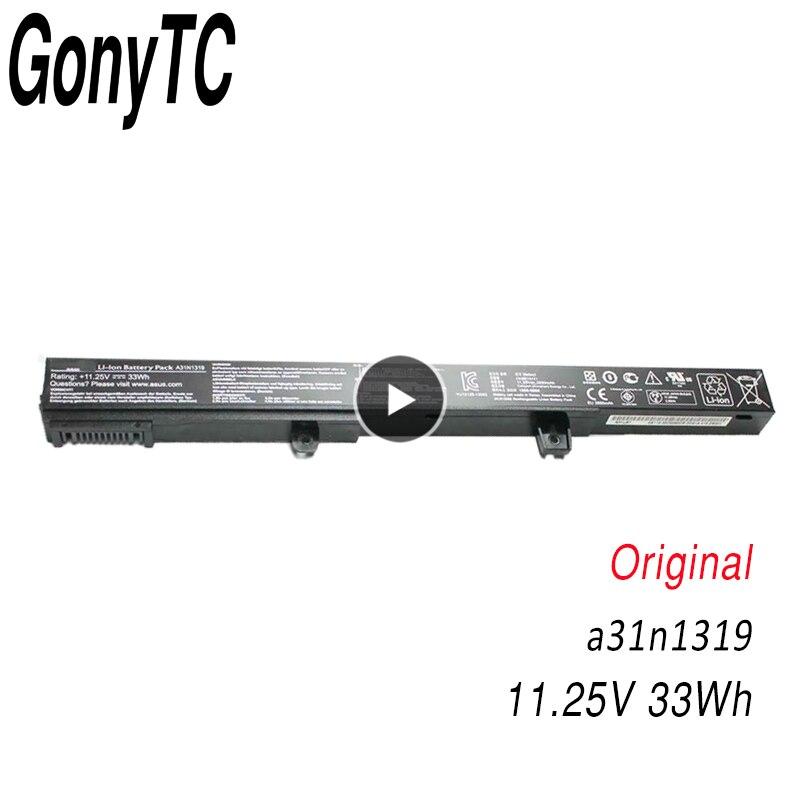 GONYTC A31N1319 Original Laptop Battery A41N1308 0B110 00250100 X551M For Asus X451 X551 X451C X451CA X551C X551CA Series