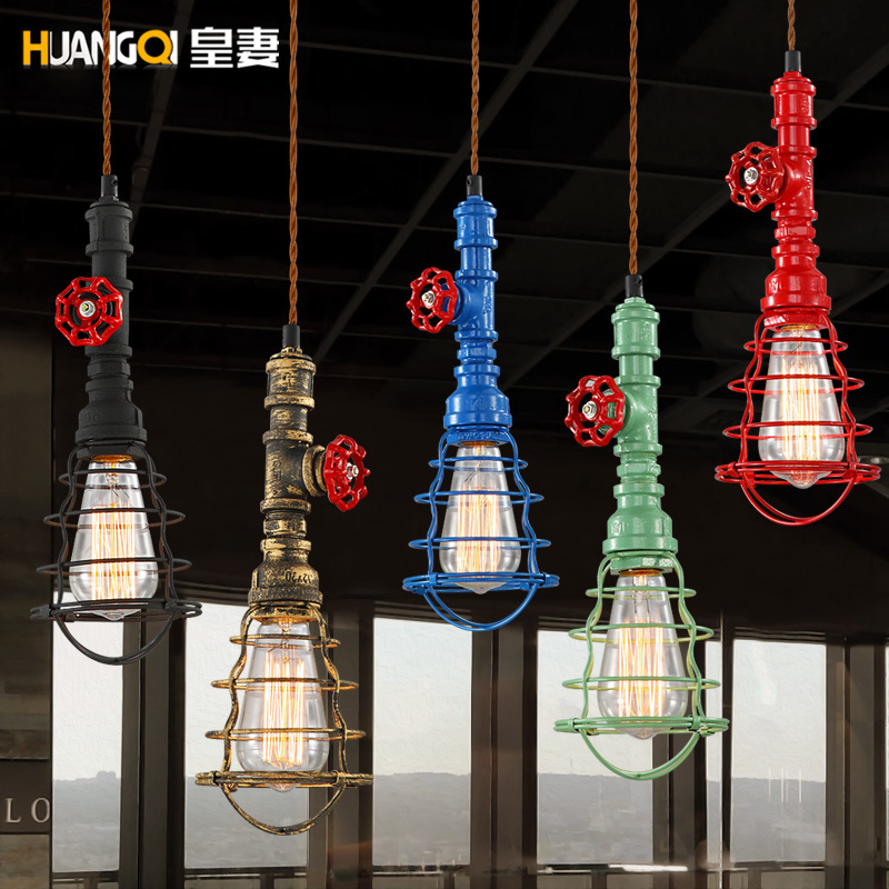 Loft American Retro Pendant Lamp Pendant Industrial Style Single Head Restaurant Lustre Pendente