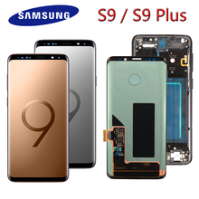 100% Original Super AMOLED Display for SAMSUNG Galaxy S9 LCD Display Touch Screen Digitizer S9 Plus G960 G965 Repair Parts