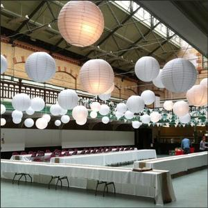 Image 5 - 30pcs/Lot Mix Size (15cm,20cm,25cm,30cm) White Paper Lanterns Chinese Paper Ball Lampion For Wedding Party Holiday Decoration