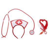 Kit de disfraz de enfermera, 3 uds., fiesta de noche de despedida, accesorios vestido elegante de enfermera para suministros de Festival de fiesta