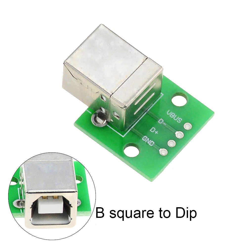 マイクロミニ USB USB オス USB 2.0 メス USB B コネクタインタフェース 2.54 ミリメートル DIP Pcb コンバータアダプタブレークアウト基板