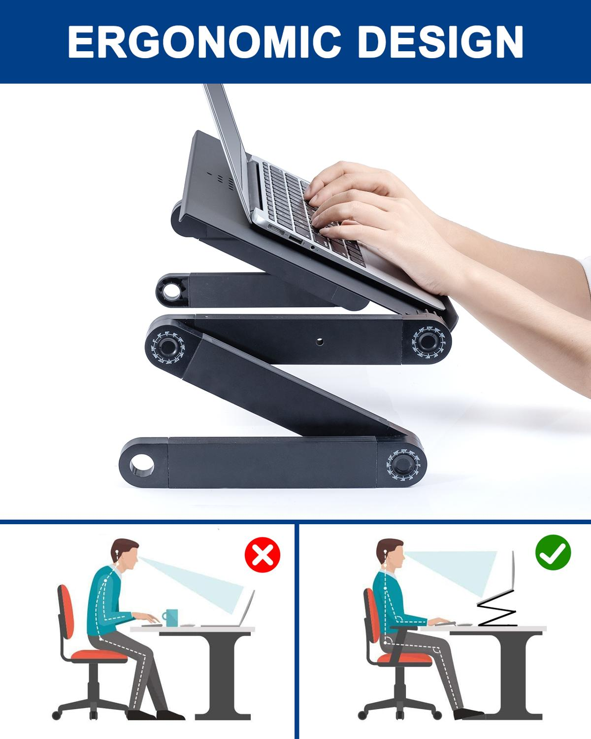 Stand Table-Desk-Stand Mouse-Pad Ergonomic Notebook Laptop Desk Pc-Table Aluminum Tv-Bed